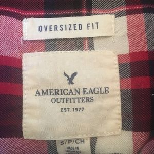 American Eagle Outfitters Tops - American Eagle Oversize Plaid Button Down